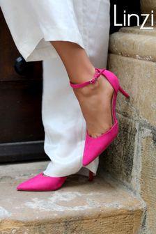 Linzi Maci Stiletto Court Heel With Ankle Strap