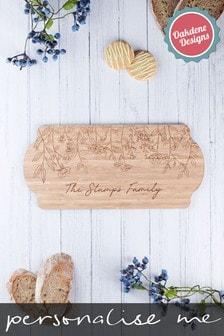 Personalised Floral Serving Board by Oakdene Designs