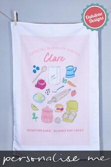 Personalised Tea Towel by Oakdene Designs