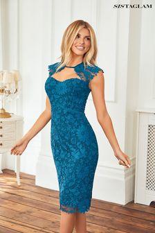 Sistaglam Lace Sweet Heart Midi Dress
