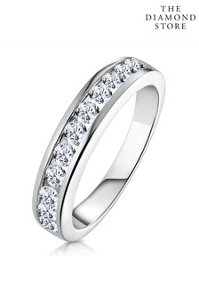 The Diamond Store Rae Half Eternity Ring 0.75CT Lab Diamond 9K White Gold