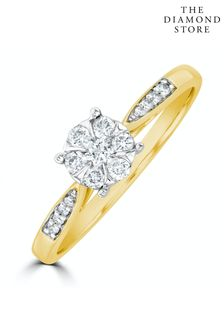 The Diamond Store Lab Diamond Engagement Ring With Shoulders 0.25ct H/Si in 9K Gold