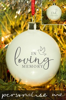 Personalised In Loving Memory Bauble by Signature Gifts