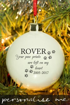 Personalised Pets Bauble by Signature Gifts