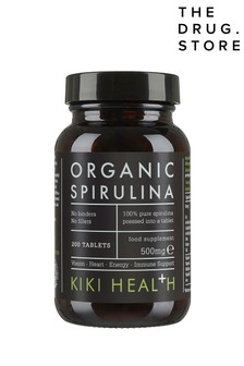 KIKI Health Organic Premium Spirulina Tablets 200 Tablets