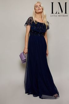Little Mistress Bridesmaid Bardot Maxi Dress