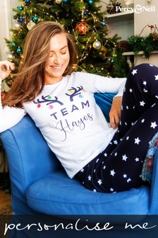 Personalised Ladies Team Pyjamas by Percy and Nell
