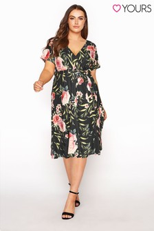 Yours Wrap Skater Dress