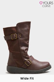 Yours Low Wedge Buckle Boot