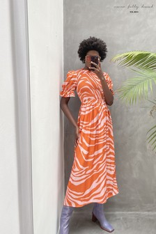 Never Fully Dressed Zebra Midi Swedish Dress