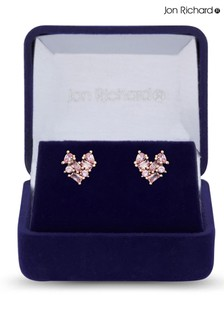 Jon Richard Jon Richard Rose Gold Plate Cubic Zirconia Mixed Earrings