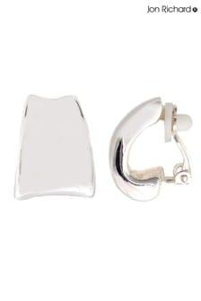 Jon Richard Polished Clip On Hoop Earrings