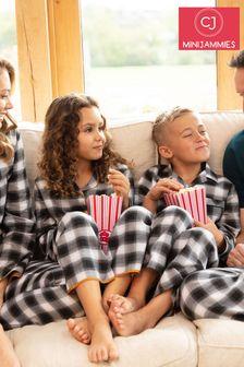 Cyberjammies Charcoal Checks Long Sleeve PJ Set