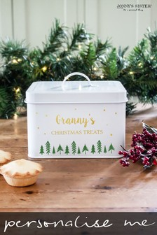 Personalised Christmas Treat Tin by Jonny's Sister