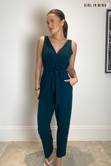 Girl In Mind Wrap Jumpsuit