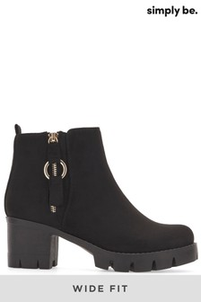 Simply Be Arden Wide Ankle Boots