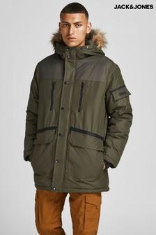 Jack & Jones Parka Jacket With Fur Trim Hood