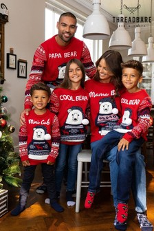 Threadbare Mens Matching Family Christmas Jumper