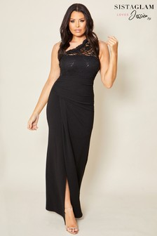 Sistaglam Loves Jessica Lace Stretch Maxi Dress