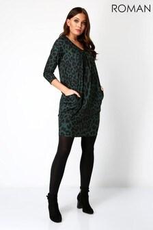 Roman Animal Leopard Print Slouch Dress