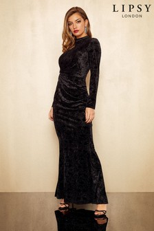 Lipsy Melanie Velvet Maxi Dress
