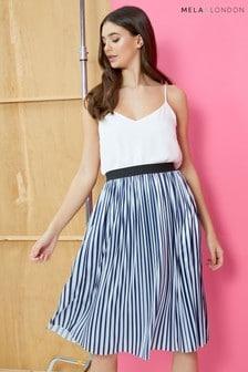 Mela London Pleated Midi Skirt
