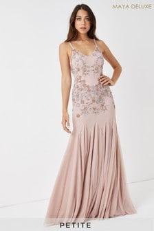 Maya Floral Petite Embellished Maxi Dress