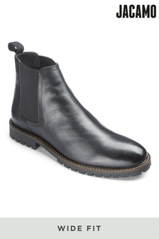 Jacamo Wide Fit Chelsea Leather Boots