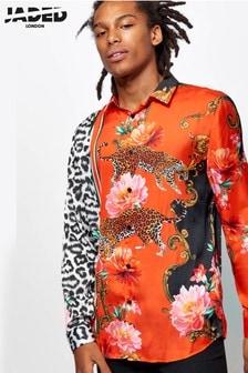 חולצה בהדפס מנומר פרחוני של Jaded London