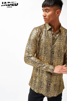 Jaded London Crocodile Foil Shirt