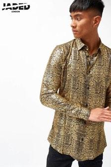 חולצה באפקט עור תנין מטאלי של Jaded London