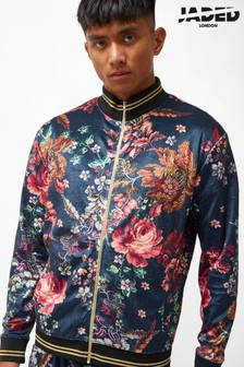 Jaded London Antique Floral Velvet Track Top