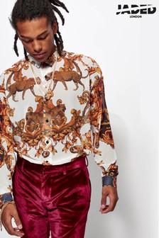 חולצת שיפון בהדפס בארוק של Jaded London