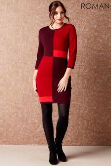 Roman Colour Block Knitted Dress