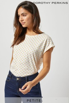Dorothy Perkins Petite Spot Roll Sleeve