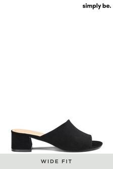 Simply Be Melinda Low Block Heel Mule Wide Fit