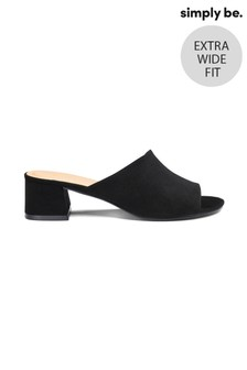 Simply Be Melinda Low Block Heel Mule Extra Wide Fit