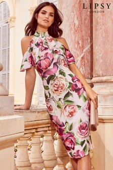 Lipsy Floral Bodycon Dress