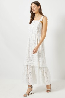 Dorothy Perkins Broderie Frill Maxi Dress