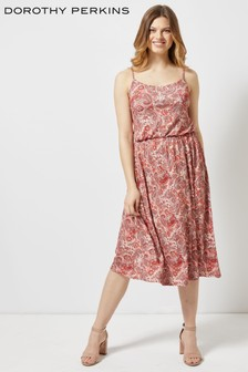 Dorothy Perkins Paisley Strappy Midi Cami Dress