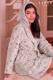 Lipsy Fluffy Hodded Robe