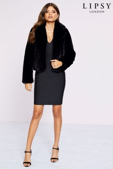 Lipsy Plush Faux Fur Coat
