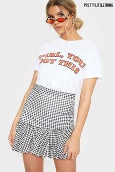 PrettyLittleThing Check Frill Skirt