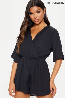PrettyLittleThing Wrap Front Playsuit