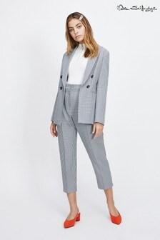 Miss Selfridge Petite Checked Paper Bag Waist Trousers