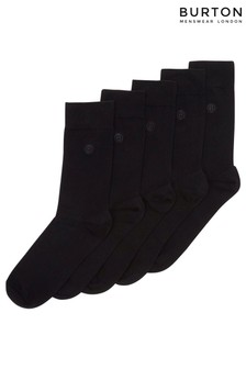 Burton 5 Pack Of Black Socks