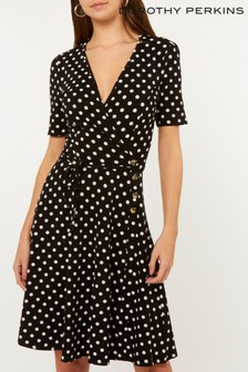 Dorothy Perkins Tall Polka Dot Wrap Dress