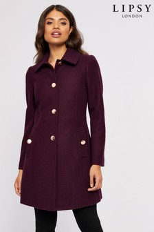 Lipsy Faux Wool  Skater Coat
