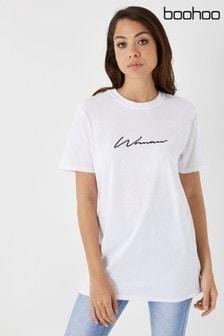 Boohoo Slogan T-Shirt