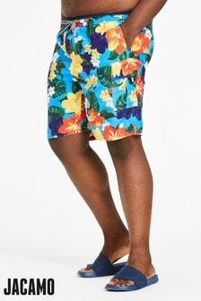 Jacamo Plus Size Capsule Floral Cargo Swim Shorts